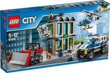 Lego City bankarán með jarðýtu