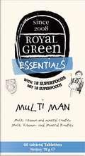 Royal Green Multi vítamín f. menn, 60 stk