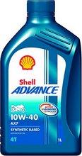 Shell Advance 4T AX7 10W-40 mótorhjólaolía 1 ltr.