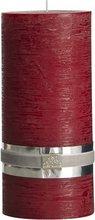Lene Bjerre Rustic kerti XL, 20 cm - dark red