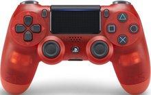 PS4 Dual Shock fjarstýring - glær rauð