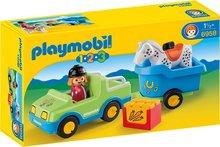 Playmobil 1-2-3 Bíll með hestavagni