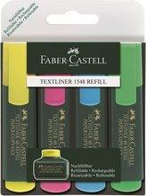 Faber Castell Textliner áherslupennar, 4 stk