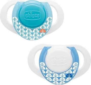 Chicco Physio Compact latex snuð blátt