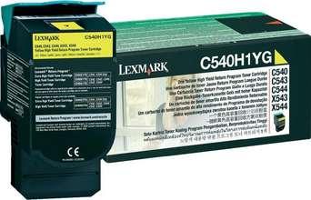 Lexmark Dufthylki C540H1 Yellow