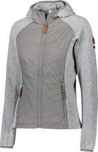 ZO•ONBúrfell Hybrid Jacket tvískiptur dömujakki, stálgrár
