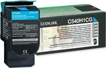Lexmark Dufthylki C540H1 Cyan