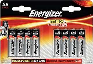 Energizer Max AA rafhlöður 8stk