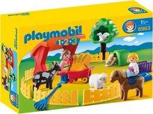 Playmobil 1-2-3  Börn í dýragarði