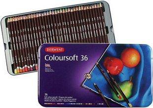 Derwent Coloursoft télitir, 36 stk