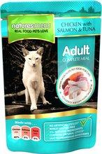Natures Menu Cat Chicken, Salmon & Tuna poki - 100gr