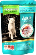 Natures Menu Cat Chicken, Salmon & Tuna poki - 100gr