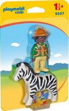 Playmobil 1-2-3 Maður með sebra hest