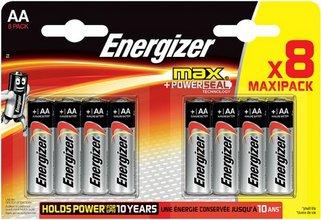 Energizer Max AA rafhlöður, 8 stk