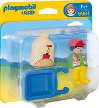 Playmobil 1-2-3 Maður með hjólbörur