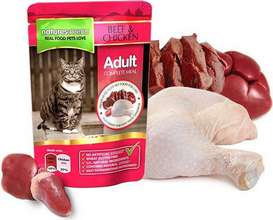 Natures Menu Cat Beef & Chicken poki - 100gr