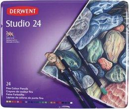 Derwent Studio trélitir, 24 stk