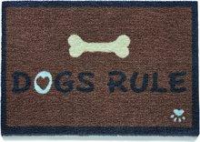 HugRug Mat Dogs Rule Umhverfisvænar gólfmottur - stærð 50x75cm