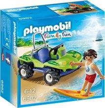 Playmobil Family Fun - Brimbrettagaur og strandbíll
