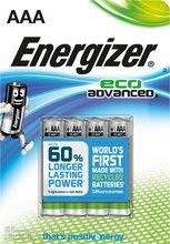 Energizer Eco AAA rafhlöður, 4 stk