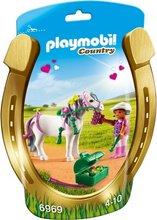 Playmobil Country - Barn á hvítum hesti