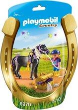 Playmobil Country - Barn á svörtum hesti