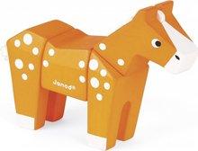 Janod Animal kubbar, hestur