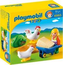 Playmobil 1-2-3 Bóndakona og hænur