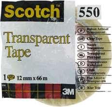 Scotch límband glært 12mm x 66m