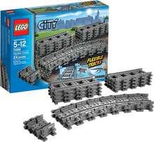 Lego City Flexible and Straight Tracks - lestarteinar