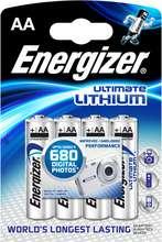 Energizer Ultimate Lithium frostþolnar AA rafhlöður