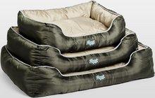 Agui Waterproof Bed green/beige Hundarúm úr vatnsheldu og slitsterku efni - stærð 90x70cm