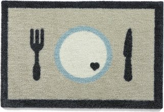 HugRug Mat Dinner 4 umhverfisvænar gólfmottur 40 x 60 cm