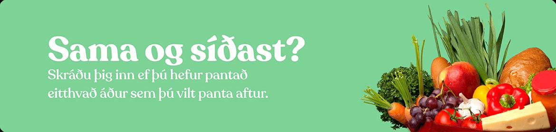 Skráðu þig inn til að sjá innkaupasöguna þína