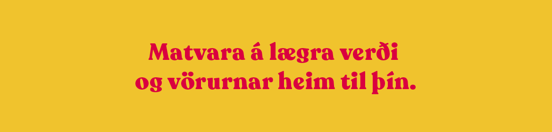Betra verð: Gult matvara á lægra verði